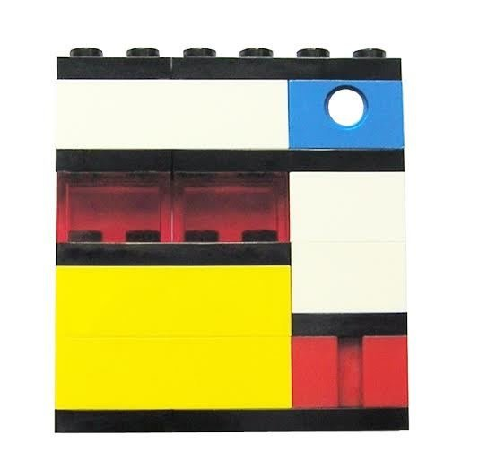 Collectible brooch pin Model 3 - made from LEGO® bricks – MONDRIAN