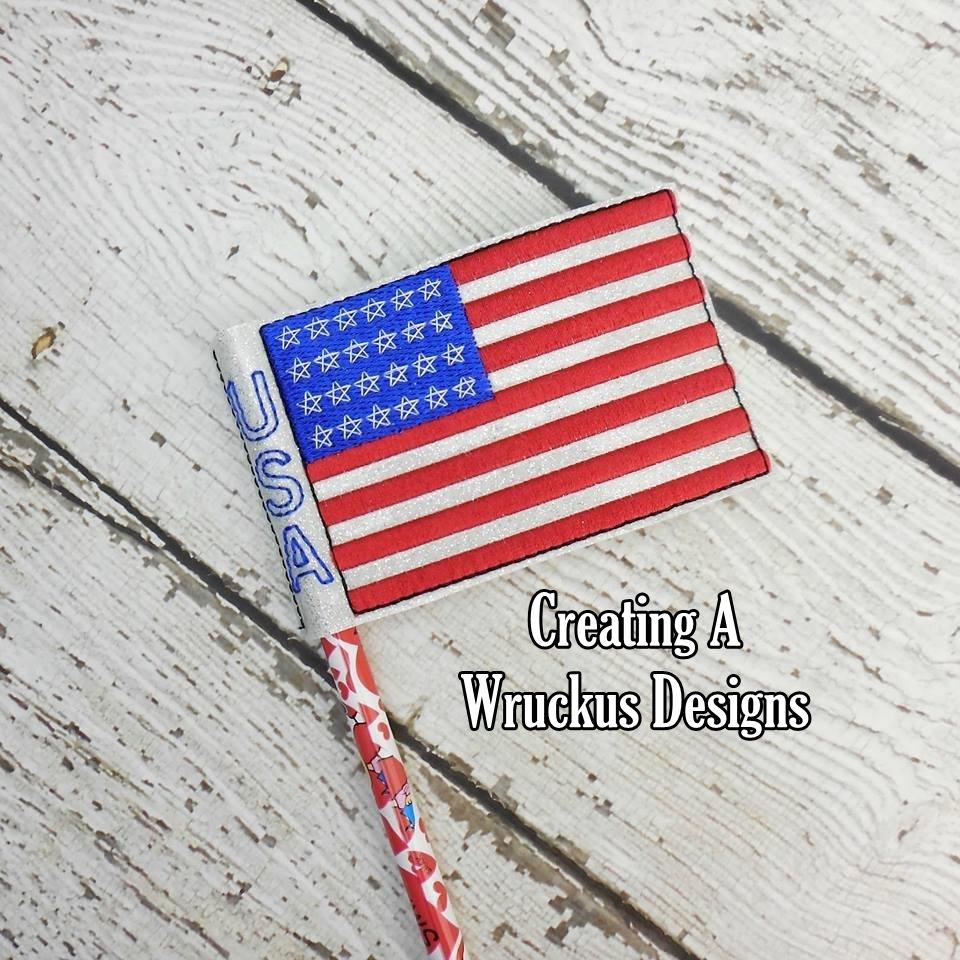US Flag Pencil Topper