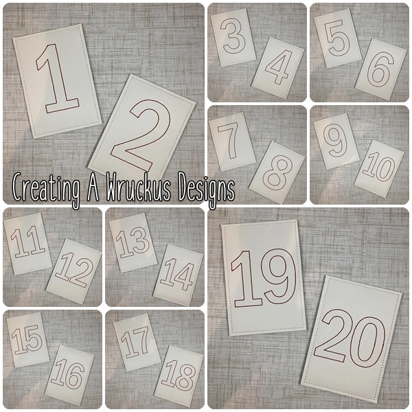 Number Flashcards 5x7 Only