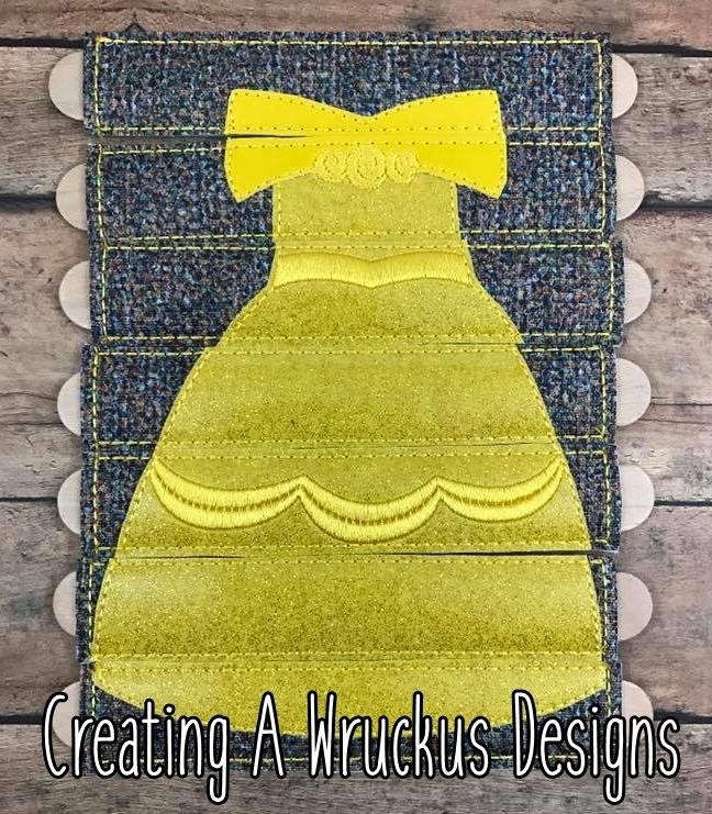 Belle Dress Stick Puzzle