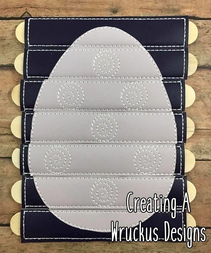 Egg Sprial Stick Puzzle