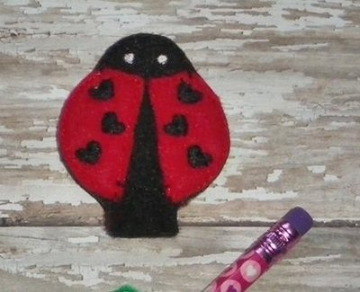 Ladybug Pencil Topper