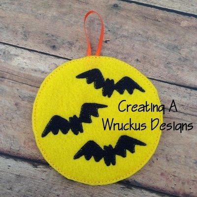 Bats & Moon Glow Ornament