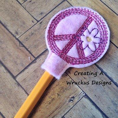 Peace Sign Pencil Topper