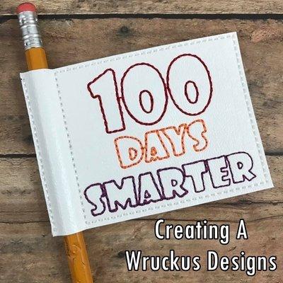 100 Days Smarter Flag Pencil Topper