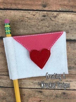 Valentine Mail Pencil Flag