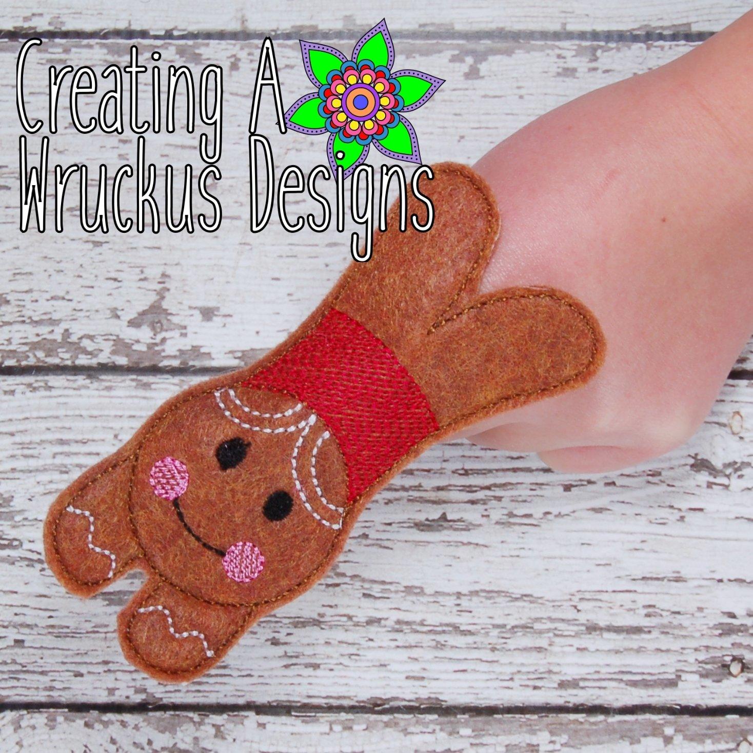 Gingerbread Boy Finger Friend