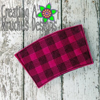 Plaid Coffee Sleeve