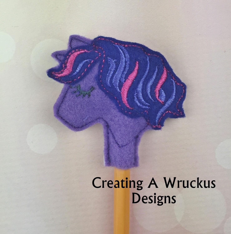 Unicorn Multi Colored Mane Pencil Topper
