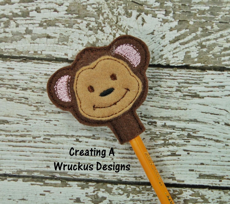 Monkey Pencil Topper