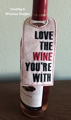 Love the Wine You're With Bottle Tag