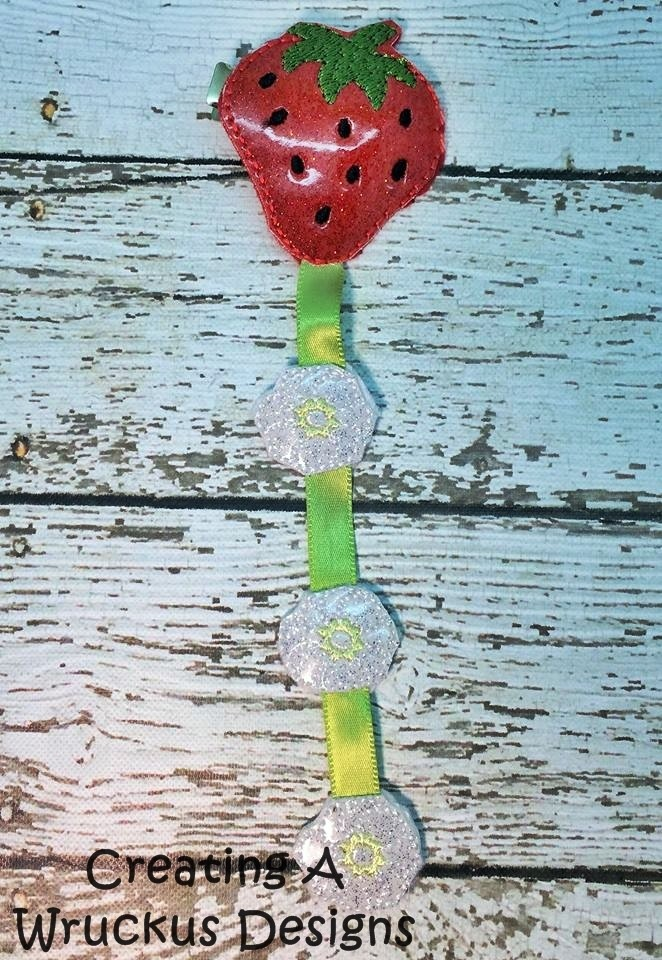 Strawberry Braid-In Feltie