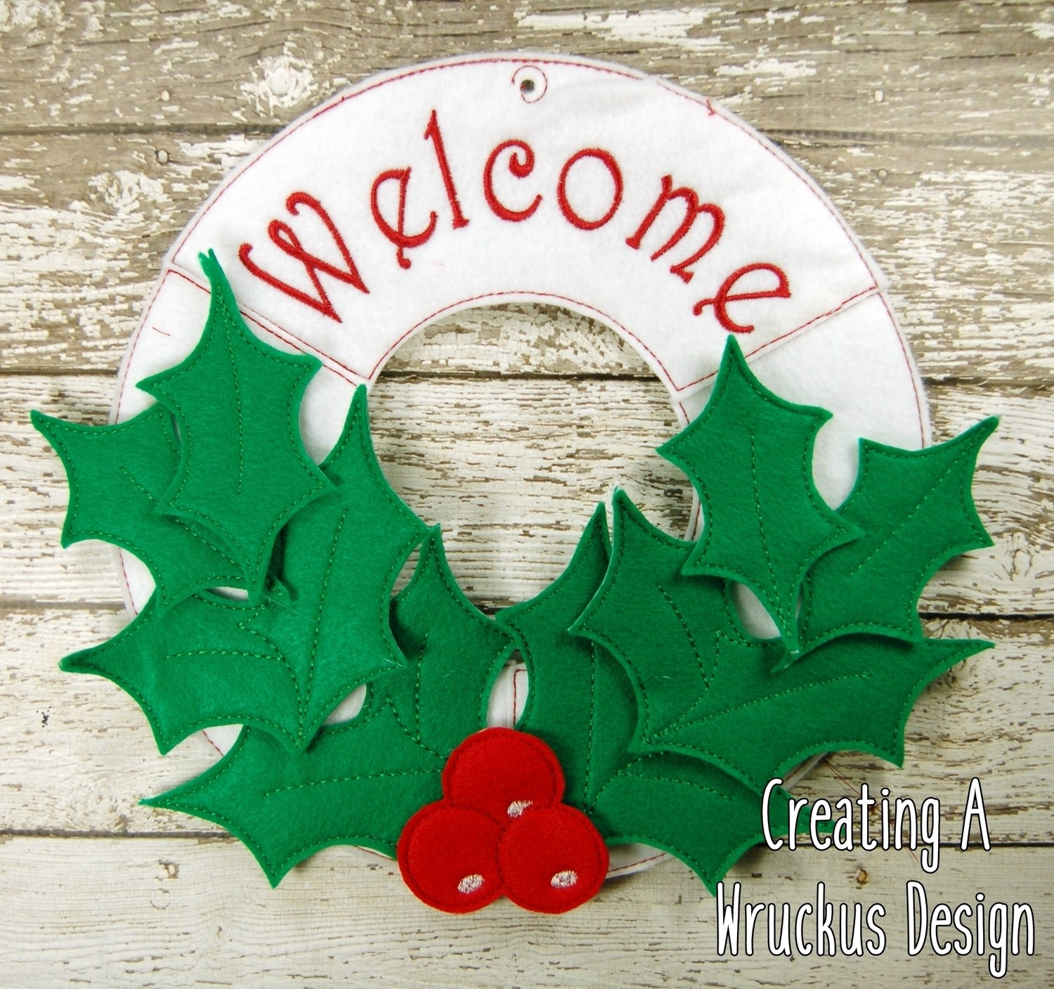Holly Welcome Wreath