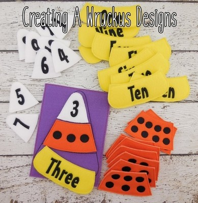 Candycorn Number Match