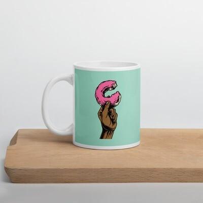 Holding a donut, Keramik Häferl