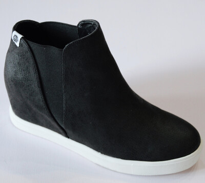 Faux Leather Wedge Sneaker