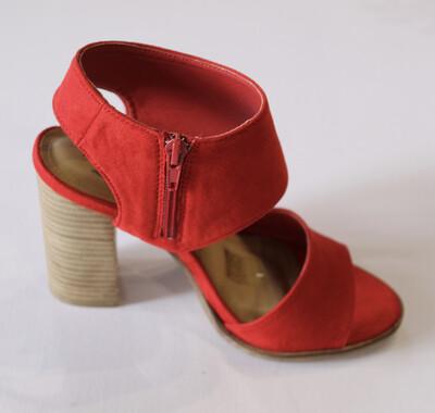 Red Block Heel