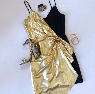 Black & Gold Cocktail Dress