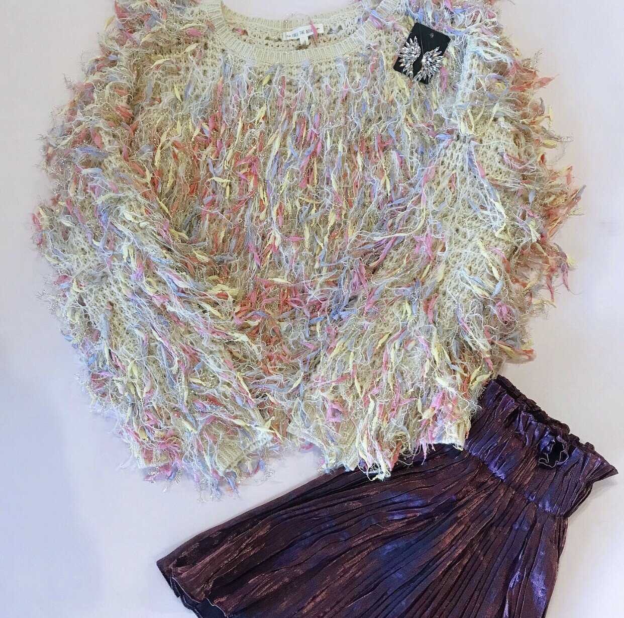 Pastel Shag Sweater