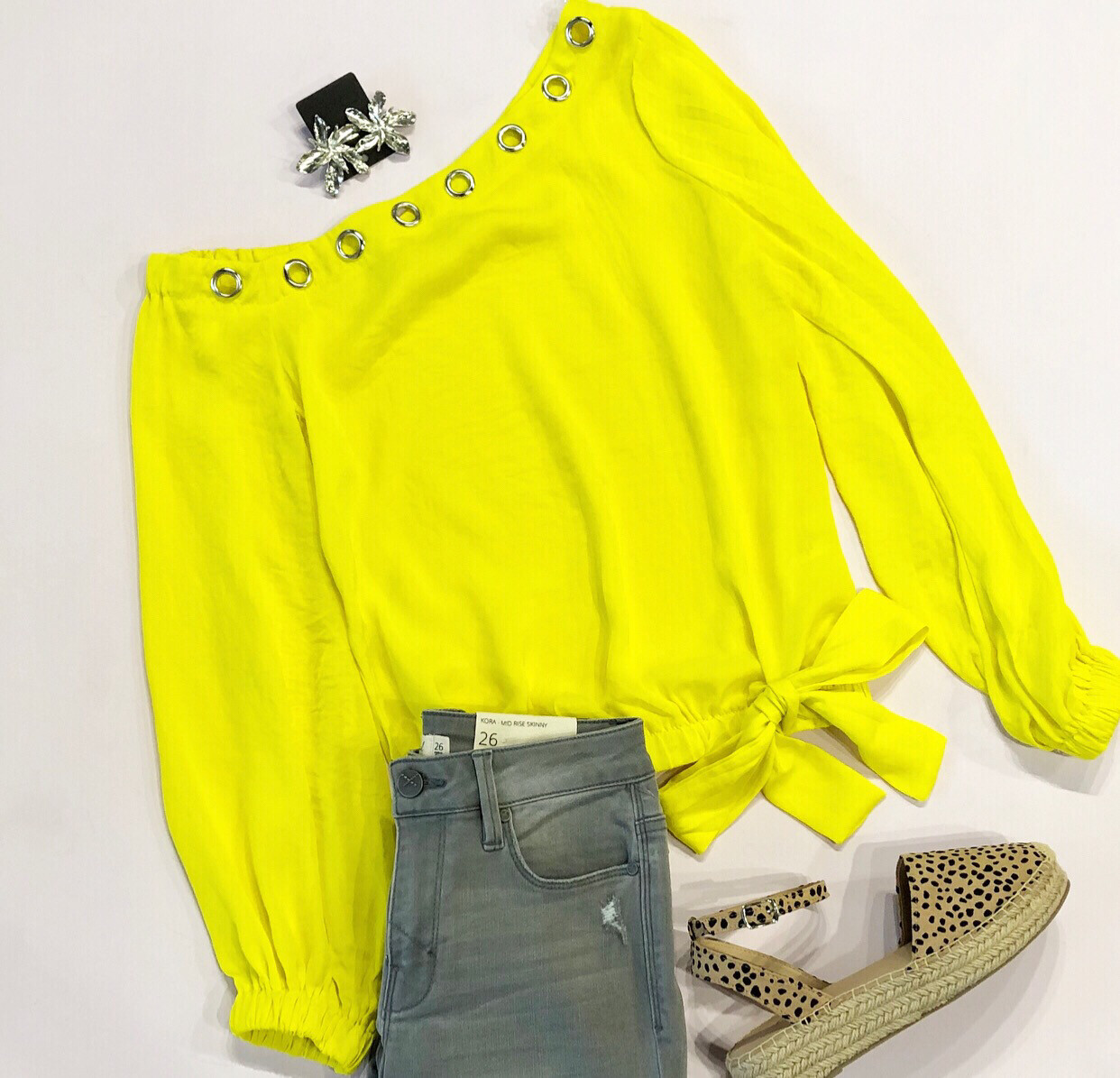 Lemon One Shoulder Blouse