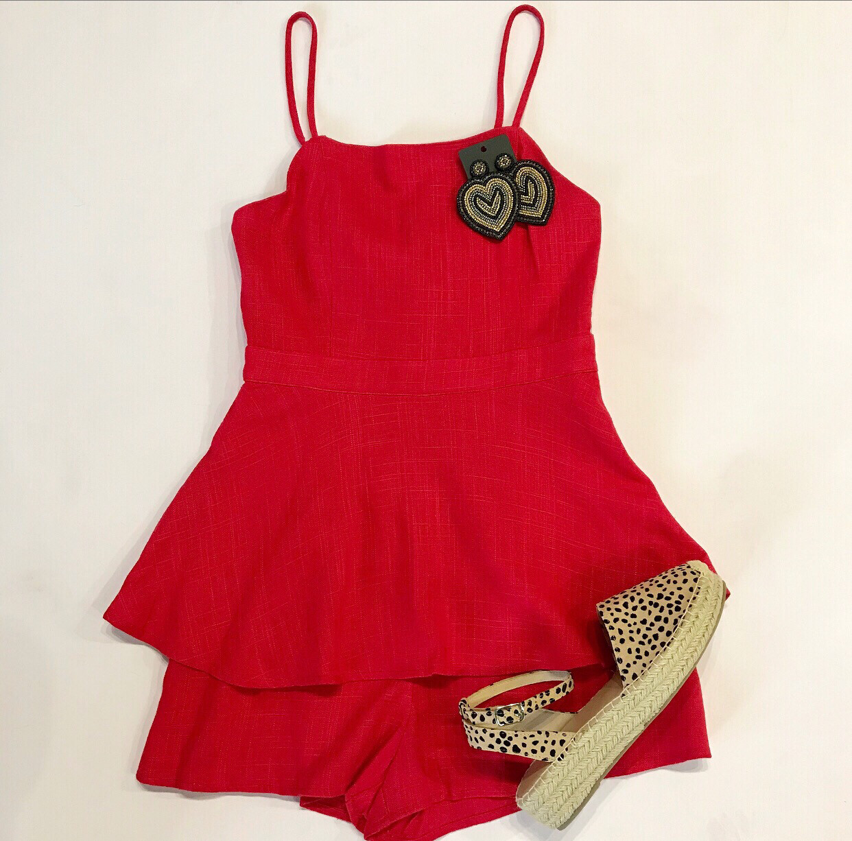 Red Skirted Romper