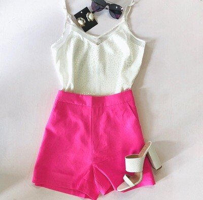 Neon Pink Dress Short