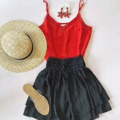 Red Embossed Cami