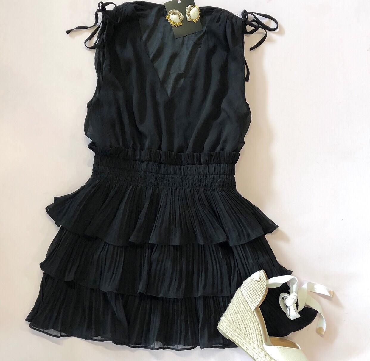 Black Peasant Dress
