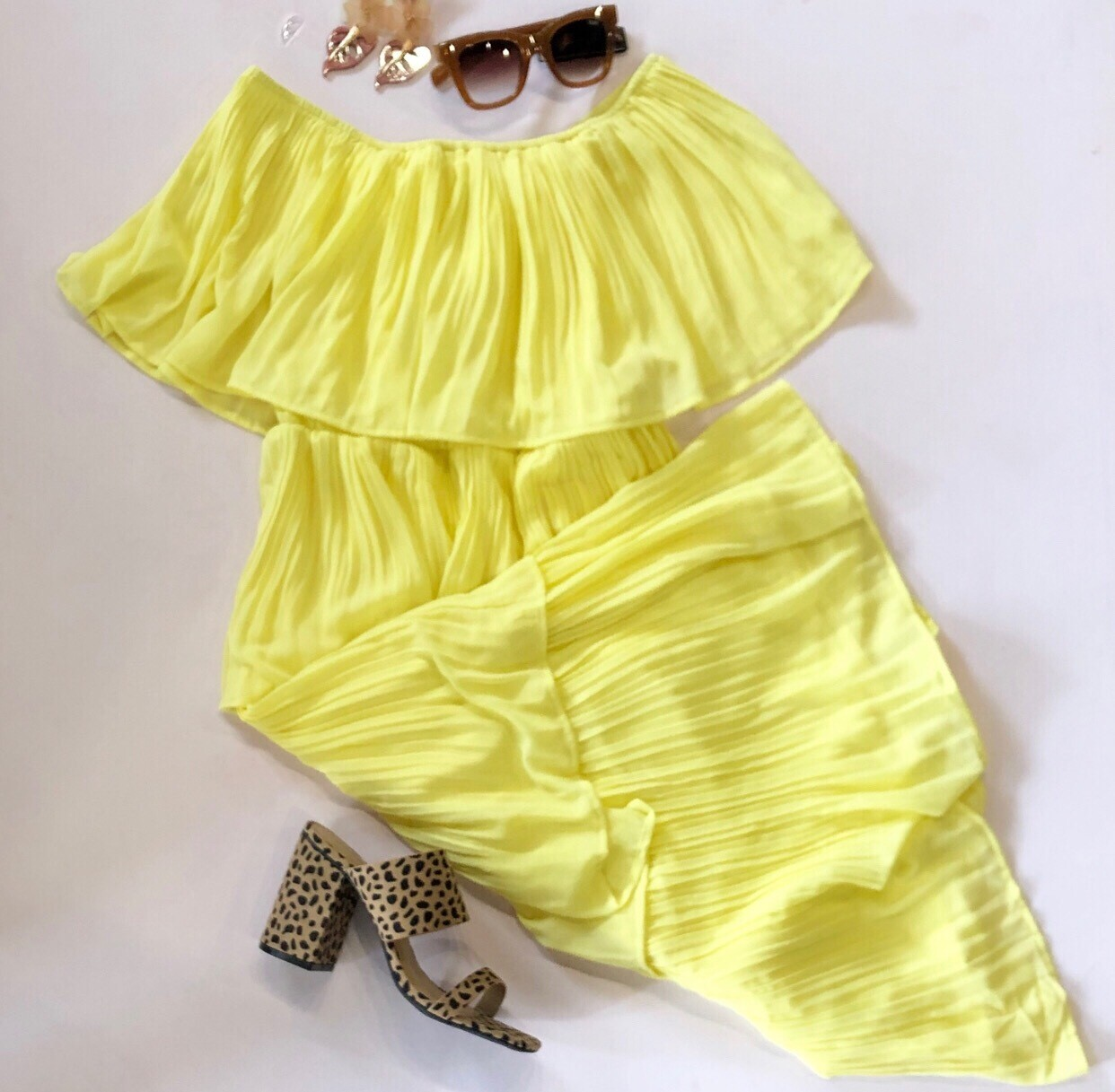 Lemon Midi Dress