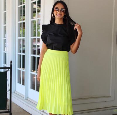 Neon Midi Skirt