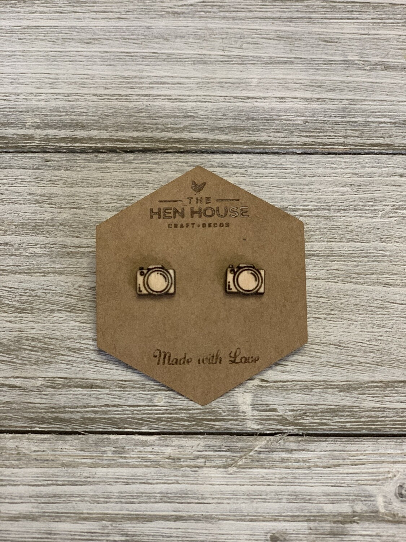 Camera Stud Earrings