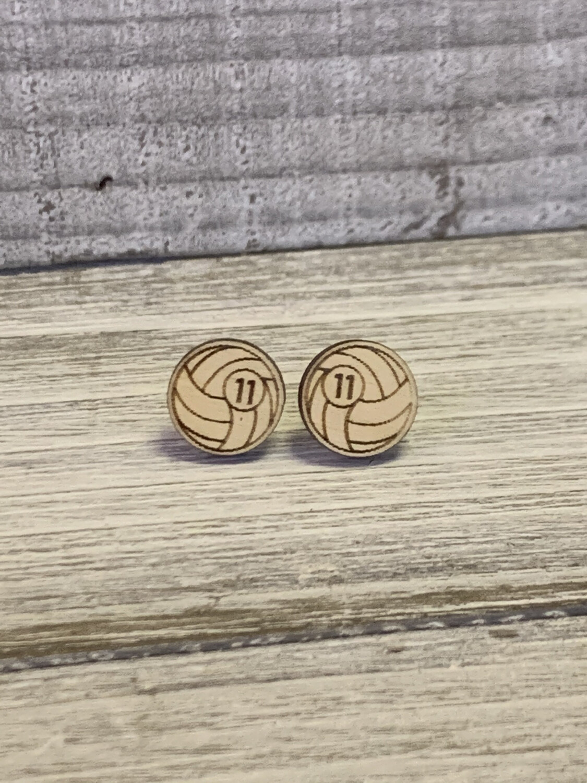 Custom Volley ball Earrings