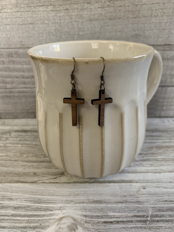 Little Wooden Cross Dangles