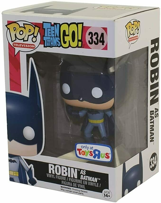 Funko DC Teen Titans Go! Funko Pop! Television Robin as Batman Exclusive Vinyl Figure #334