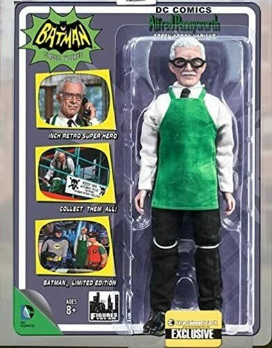 Batman Classic 1966 TV Series 8 Inch Action Figure Alfred Pennyworth Green Apron Version