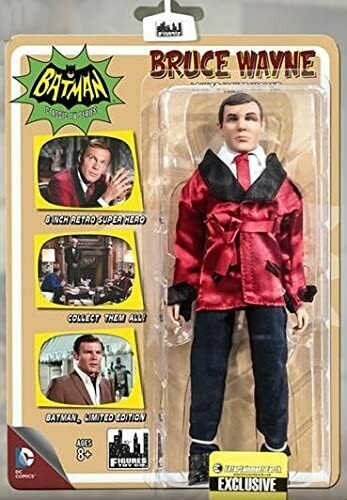 Batman Classic 1966 TV Series 8 Inch Action Figure Bruce Wayne (Batman) Lounge Jacket Version