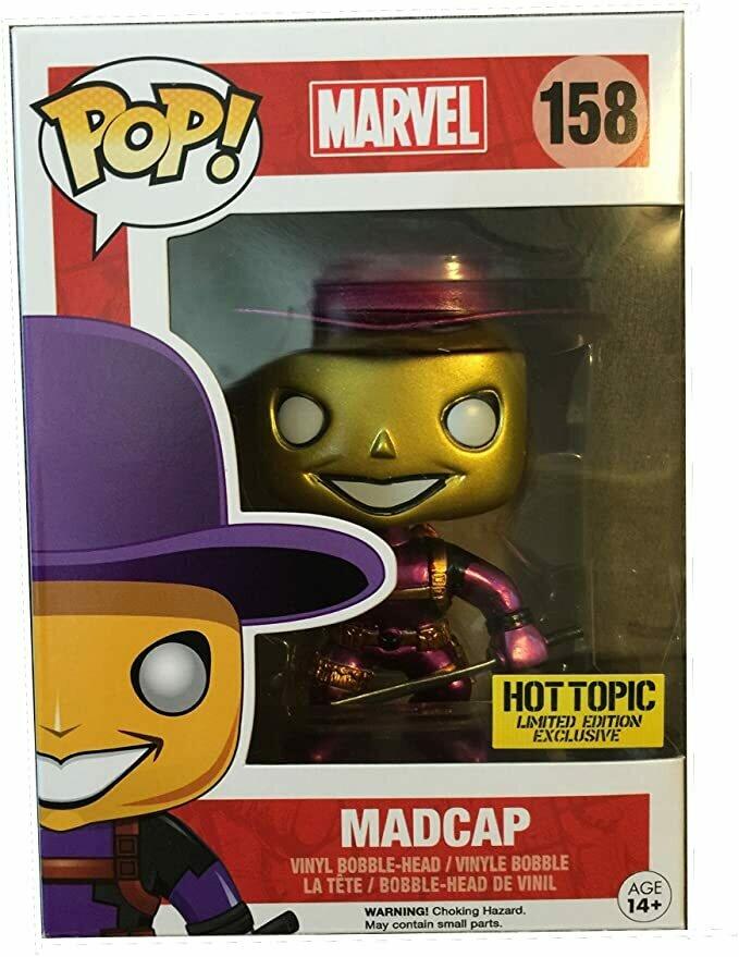 Funko Pop! Mystery Deadpool Metallic Chase Madcap Vinyl Figure by Pop! Marvel