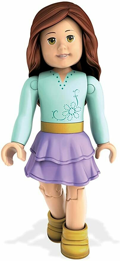Mega Construx American Girl Series 1  -Blue Shirt & Purple Skirt Collectible Figure