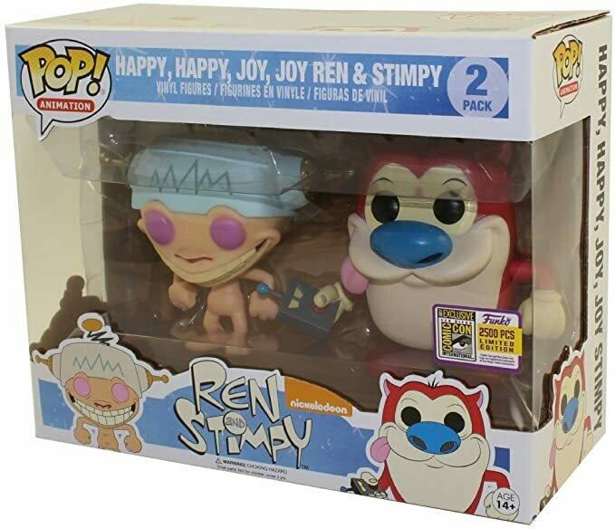 SDCC 2017 Exclusive Ren & Stimpy Happy, Happy, Joy, Joy 2 Pack Pop! Vinyl Figures