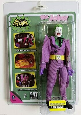 Batman Classic TV Series 8 Inch Action Figure: Joker With Utility Belt Variant Entertainment Earth Exclusive