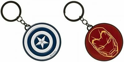 Captain America Civil War / Iron Man - Double Sided Keychain