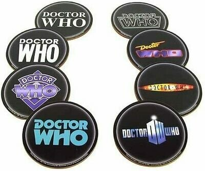 Doctor Who Logo Coaster 8-Pk