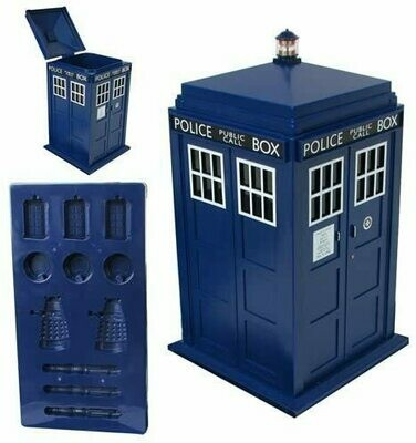 Underground Toys Doctor Who Ice Cube Tray and Tardis-Shaped Ice Bucket