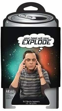 """Big Bang Theory Sheldon """"Your Head Will Now Explode"""" Can Huggie"""