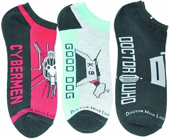 Doctor Who Low Cut Socks 3 Pack Set 2