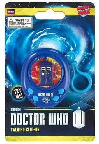 Doctor Who TARDIS Pocket Pal Talking Clip-On Key Chain