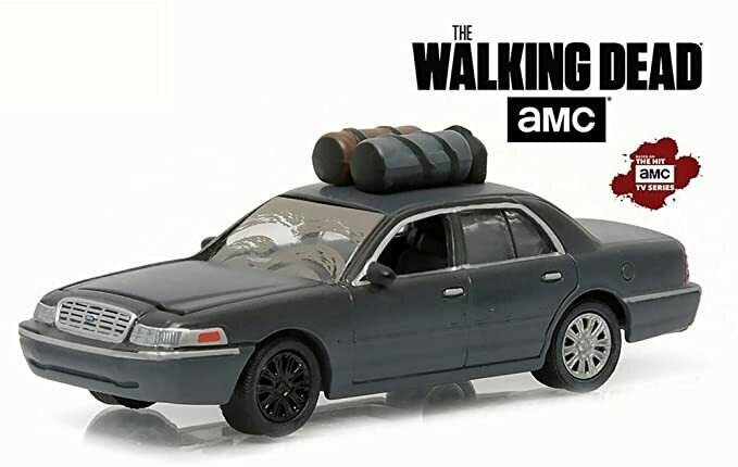Greenlight Governor's 2001 Ford Crown Victoria, Walking Dead 44740 - 1/64 Scale Diecast Model Toy Car