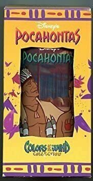 Pocahontas Disney's Powhatan & KOCOUM Drinking Glass Cup Collectable Colors of The Wind Collection