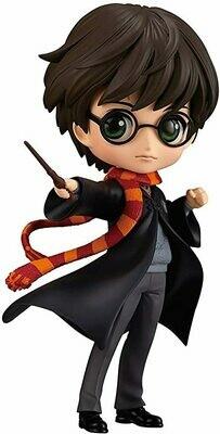 Banpresto Figure Statue 14cm Harry Potter Black Jacket QPOSKET Hogwarts Magic Spell Wand Version A Original Warner Bros