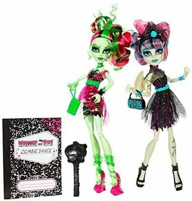 Monster High Zombie Shake Rochelle Goyle and Venus McFlytrap Doll (2-Pack)